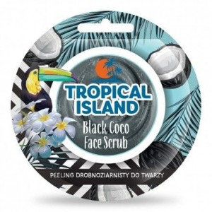 Tropical Island Peeling Drobnoziarnisty Do Twarzy Woda Kokosowa 8g